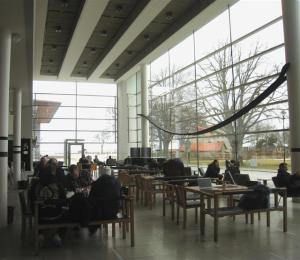 The cafe in the library at the Hogskola on Gotland