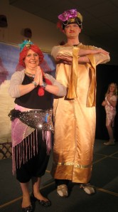 The Genie of the Ring and the Genie of the Lamp at a neighbourhood production of Aladdin this season