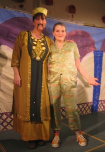 The Emporer and Wishee Washee, played by mother-and-daughter team Jo and Amy Heaphy.  I loved the orange hightops!